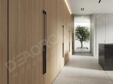 全铝客厅储物柜D6-026禾枫木