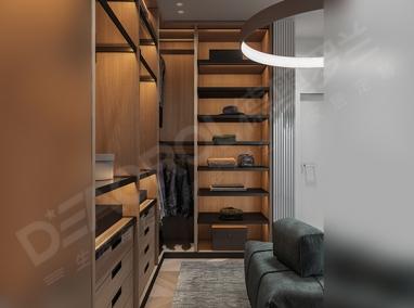 全铝衣柜D6-003 禾枫木
